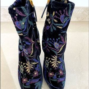 Giuseppe Zanotti suede printed ankle boots
